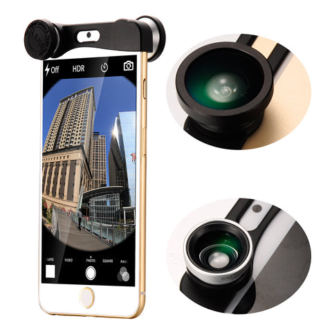 3in1 Fisheye +Wide Angle +Macro Camera Selife Lens For iPhone 6 4.7