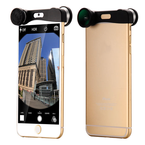 3in1 Fisheye +Wide Angle +Macro Camera Selife Lens For iPhone 6 4.7""