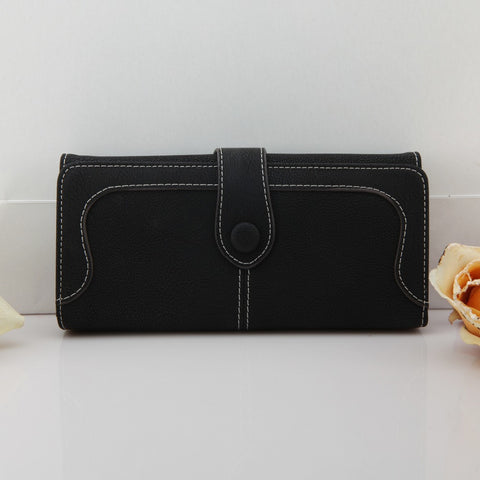 Dull Polish Leather Women Wallets Long Wallet Day