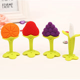 Teether Fruit and Vegetable Shape Baby Dental Care Toothbrush