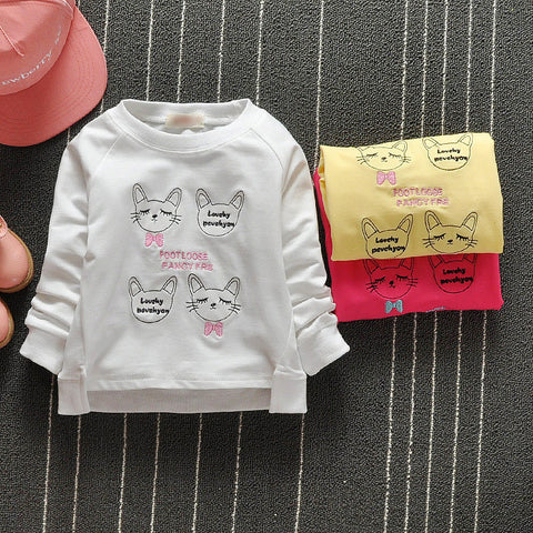Baby Kids Girls Spring Autumn T-shirts