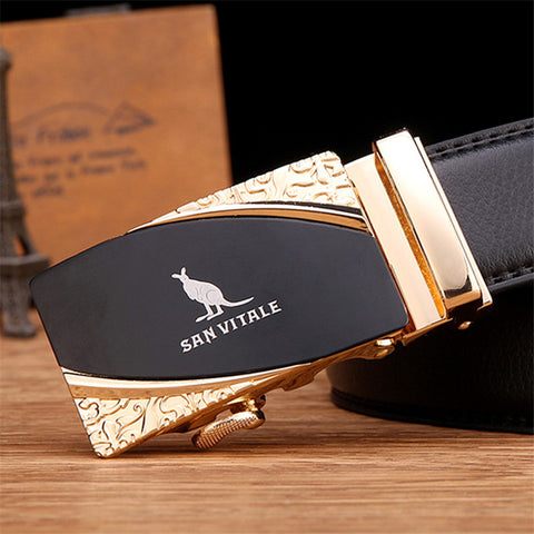 brand new fashion leather belts for business men high quality luxury for man