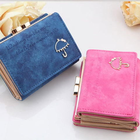 Best PU Leather Wallet Button Clutch Purse Short Handbag Bag