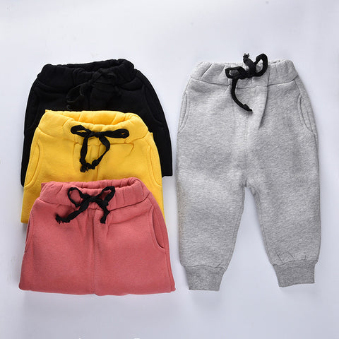 Autumn Kids Pants  Cashmere warm winter pants