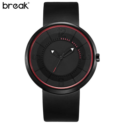 Cool Waterproof  Minimalist Unisex Quartz Rubber Strap Relogio Wristwatch