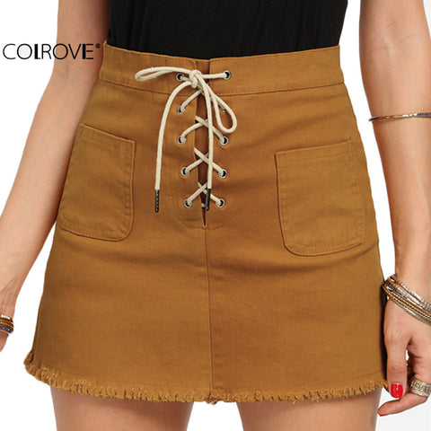Bodycon Mini Skirts Women's Summer Casual Above Knee Sheath Skirt