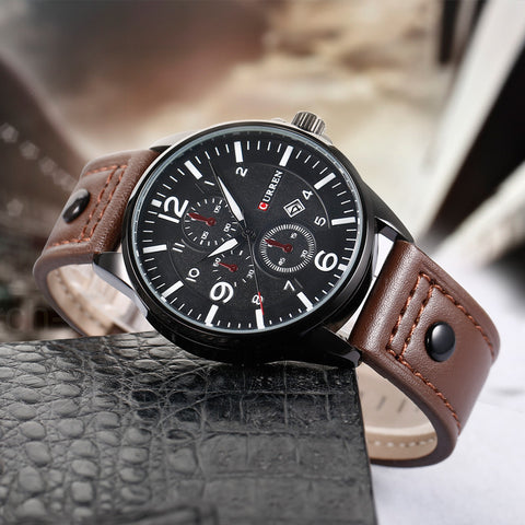 Casual Men Watches Analog Military Sports Watch Quartz Male