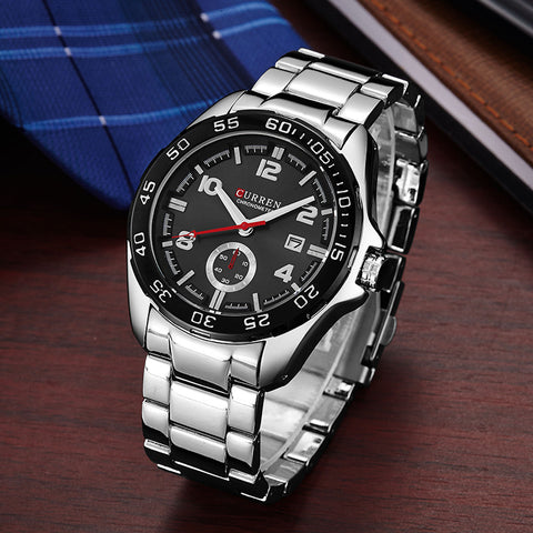 calendar Display Mutiple Dials  Wrist Quartz Watch For Man Relogio Masculino