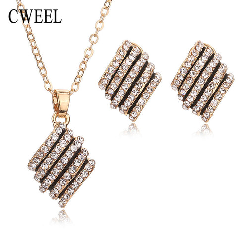 African Beads Gold Plated Jewelry Sets For Women Bridal Imitated