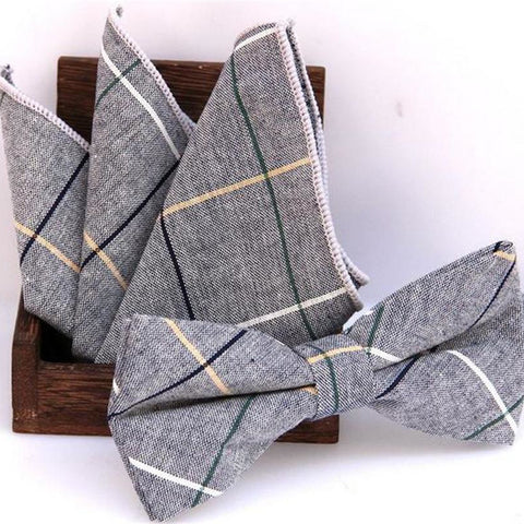 Jacquard Woven Men Butterfly Bow Tie BowTie Pocket Square Handkerchief