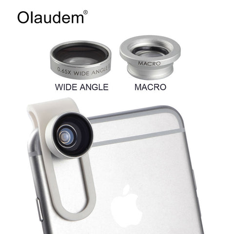 Clip-on 0.65X Wide Angle II + Macro Universal Mobile Phone Camera Lens