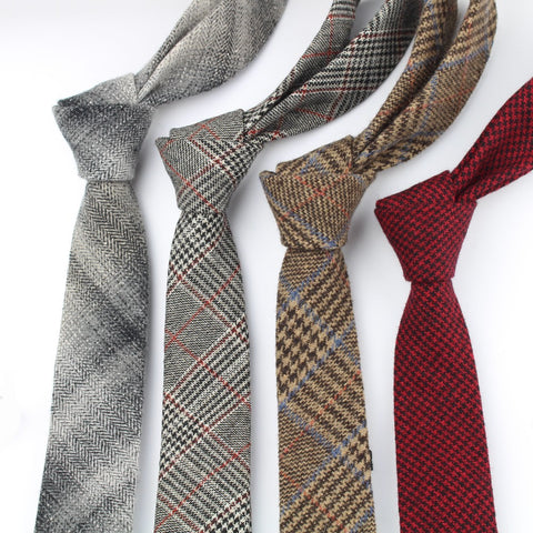 Classical Color Winter Necktie Mens Warm Neckties Designer