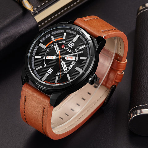 brand quartz watch Casual Fashion Leather watches reloj masculino