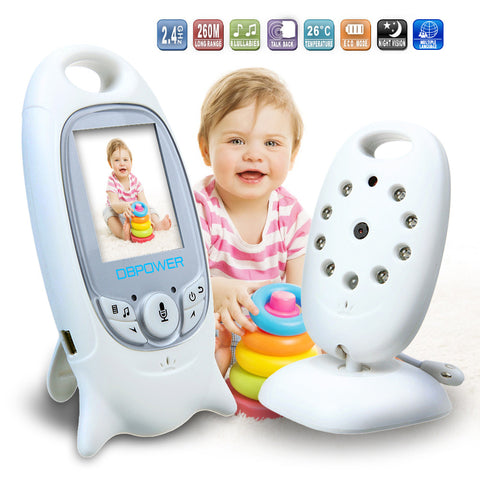 Color Video Camera Baby Monitor 2 Way Talk Wireless Night Vision IR LED