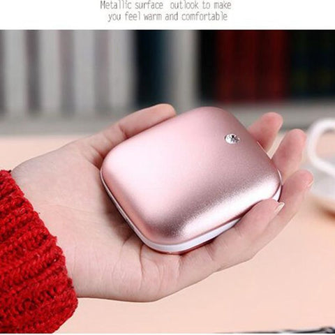 3500mAh Hand warmer Power Bank Double Alloy Surfaces Body Warmer