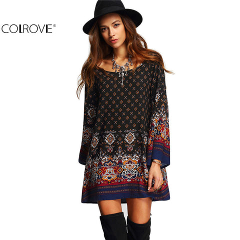 Dresses For Ladies Vestido Casual Spring Women Clothes Boho Multicolor