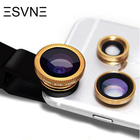 3 in 1 fisheye wide angle macro camera lens for iphone 5 6 7