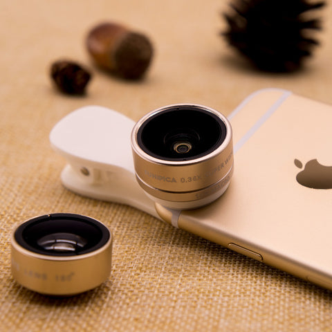 lens 0.36X Wide Angle+15X Macro Cell Phone Lens for iPhone Smartphone