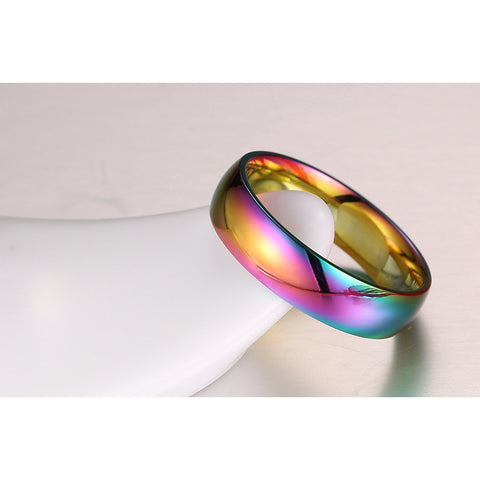18K Plated Women's Ring Magic Color Stainless Steel