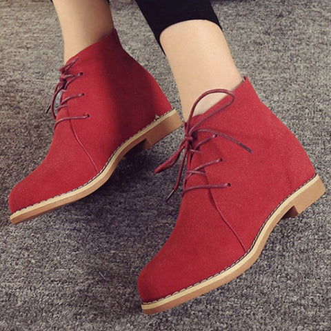 Ankle Boots Brand Height Increasing Shoes Woman