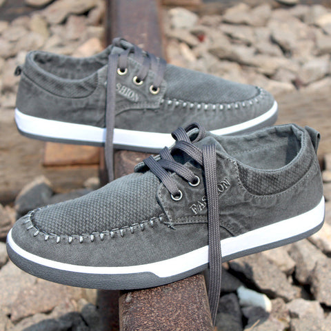 Fashion casual denim canvas shoes men