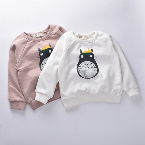 Fall Kids hoodies Totoro bobo c