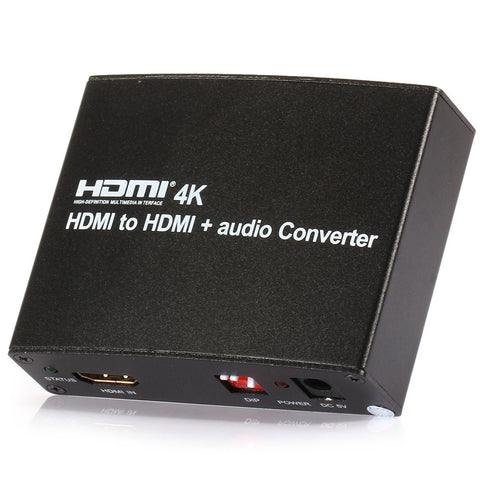 Version HDMI to HDMI Audio Converter With Optical/Coaxial/3.5mm Audio out Support 4K*2K EDID 3D 3D Video Format