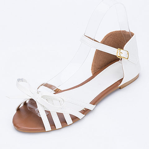 Gladiator Sandals Bowtie Summer Style Buckle