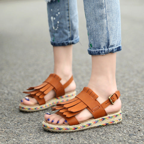 Gladiator Sandals Platform Shoes Woman Summer