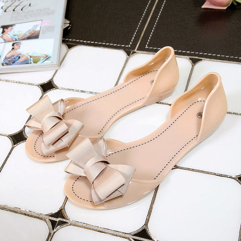 Bowtie Slippers Slip On Flats Casual Women Shoes