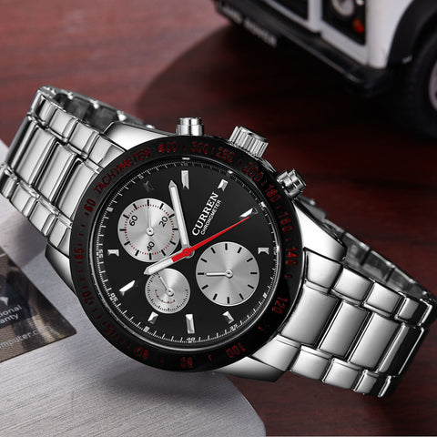 Elegant Sport Mens Watch with Round Dial  Band