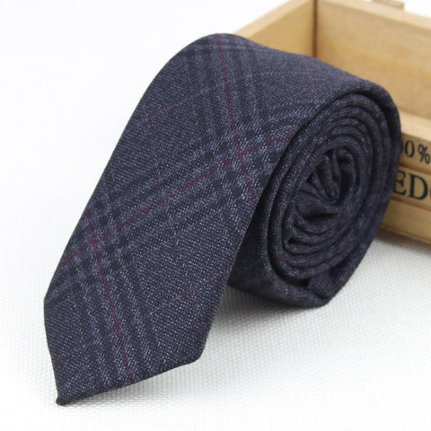 Diamond Check Artificial Fabric Of Business Suit Striped Skinny Ties Men
