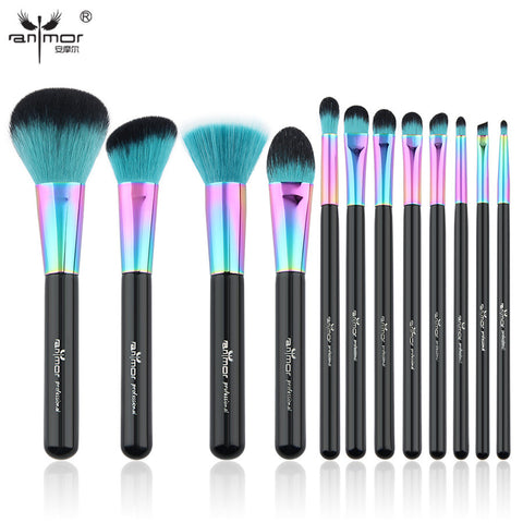 Makeup Brush Set Colorful Makeup Brushes Beautiful Powder Blush