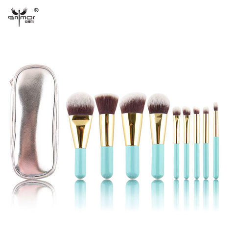 9 pcs Makeup Brushes Synthetic Hair Makeup Brush Set