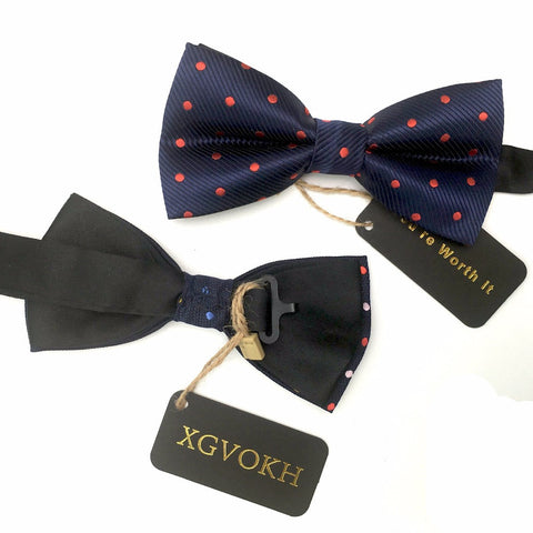 Gentleman bow tie butterfly cravat bowtie male solid color marriage bow ties