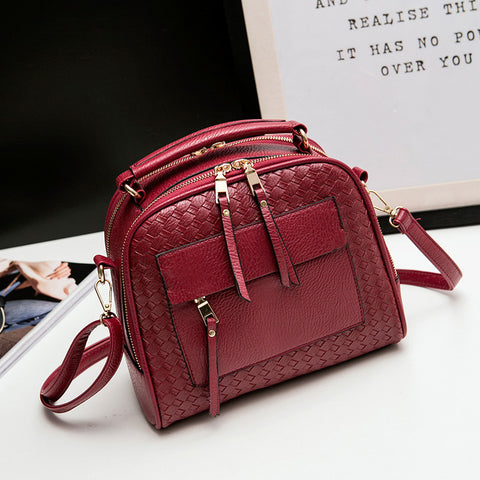 Arrival Knitting Women Handbag Fashion  Weave Shoulder Bags Small