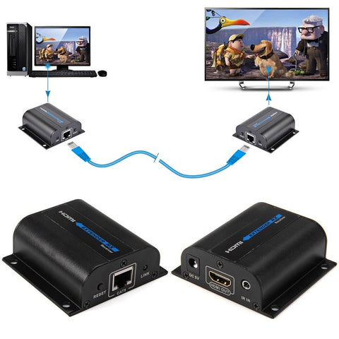 HD 1080P HDMI Extender TX/RX 60M with IR over CAT6 RJ45 Ethernet Cable Support HDMI 3D for HDTV DVD Player