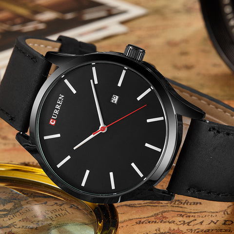 Curren 8214 Luxury Brand Quartz Watch Leather Strap Dress