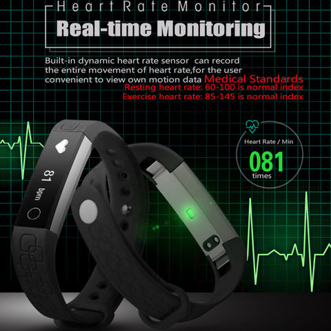 Micro-K Bluetooth Smart Band Heart Rate Monitor Pedometer Call Message Remind for iOS Android OS Wristband PK Fitbits mi band 2