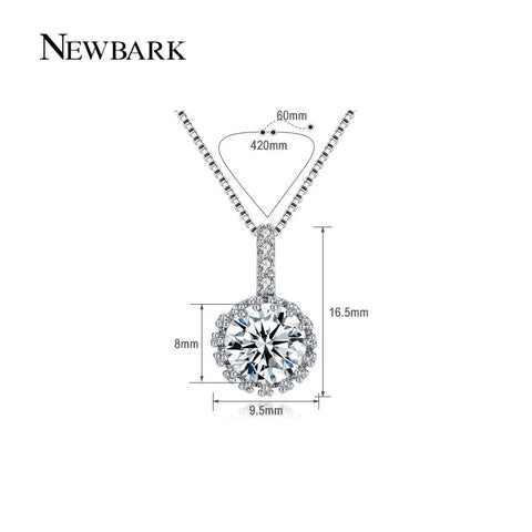 Big Round Necklace Top Class Cubic Zirconia Diamond White Gold Plated Jewelry