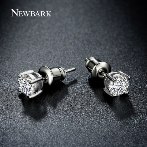 Brand Small Cute Korean Stud Earrings 0.5ct Top Quality Round Zirconia 4 Prongs Setting Women Earrings