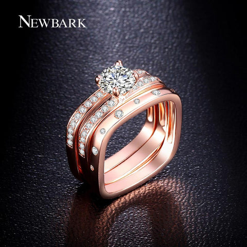 Highly Recommended Wedding Ring Three Bands Square Rings Inlaid Best