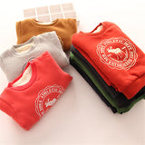 Hoodies Clothes Children's thick Sweatshirts Set