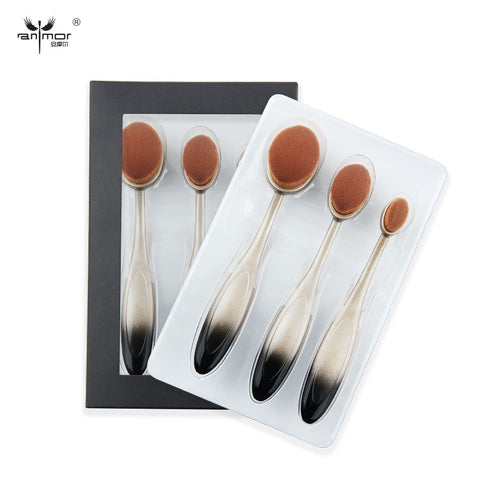 Brush Kit High Quality Oval Makeup Brush Soft Makeup Brush Set Colorful
