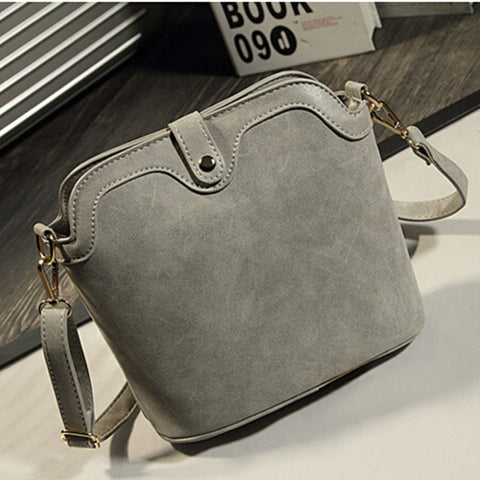 Nubuck Leather Small Women Shoulder Bag