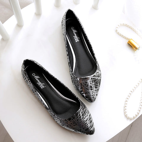 Flats Ladies Wedding Shoes Silver Gold Ballerina Shoes