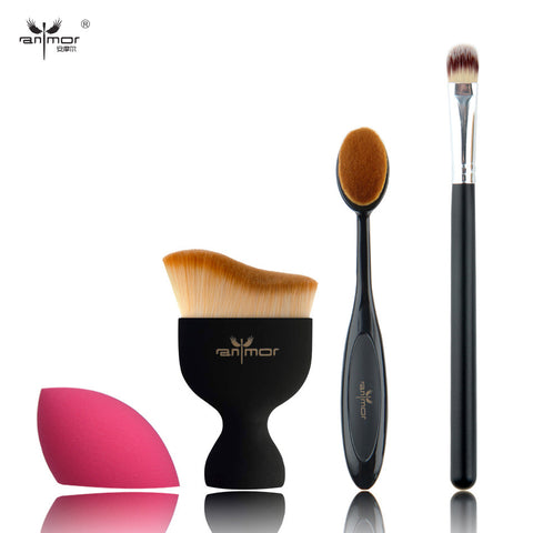 4 pcs Makeup Brushes Cosmetic Cream Powder Blush Makeup Brush Set