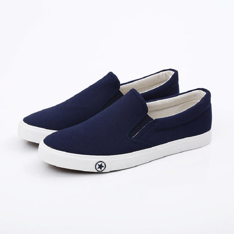 Breathable Classic Men Shoes Slip Brand Canvas Flat Shoes