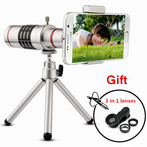 18X Zoom Optical Telescope With Mini Tripod For Samsung iPhone