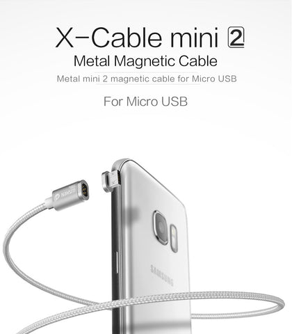 2 Magnetic Cable Fast Charge Cable For iPhone Samsung Andoid Support
